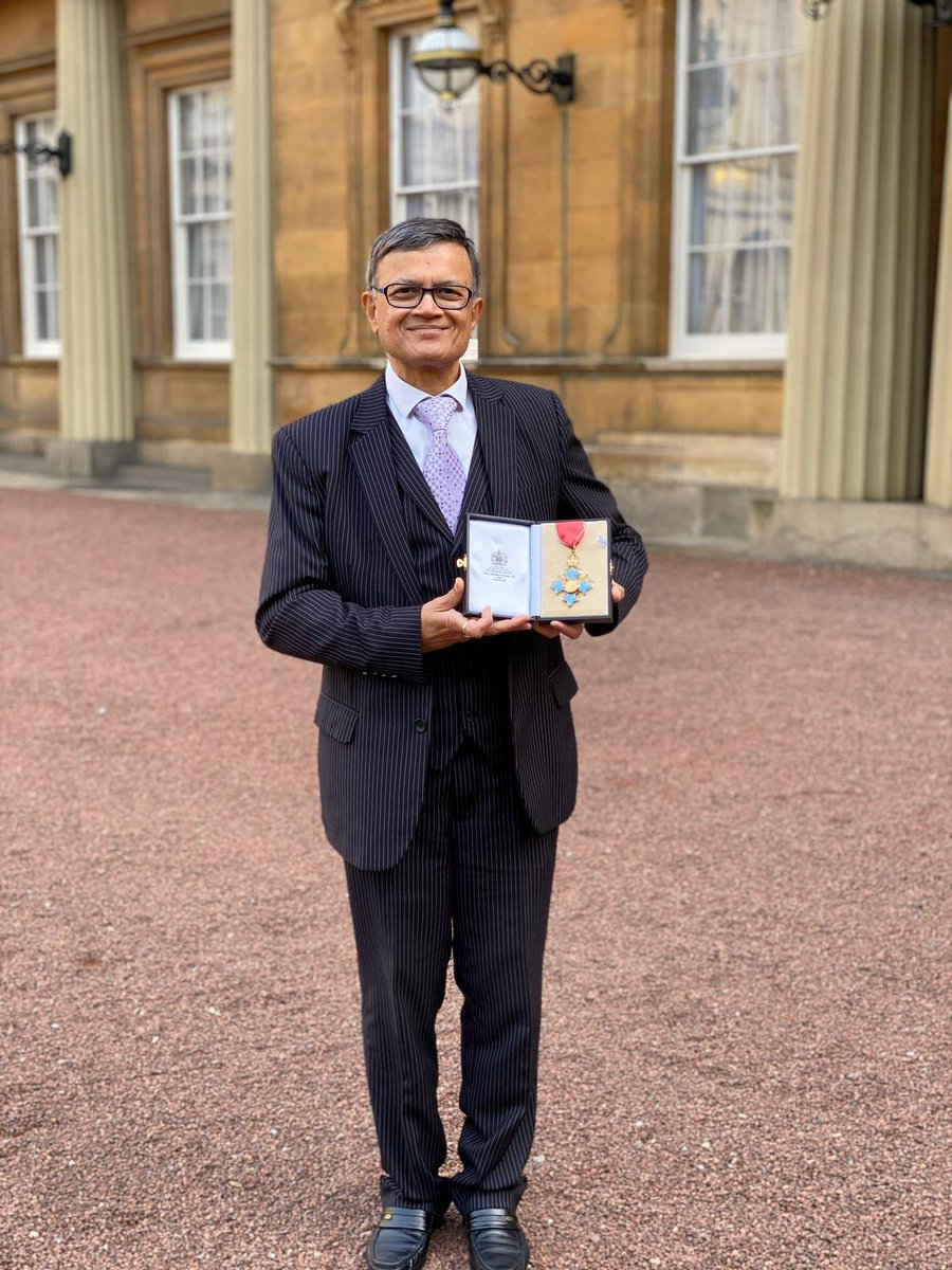 Dr Bharat Shah, CBE, Collects His Honour